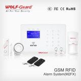 433MHz comutável segurança GSM sem fio em vários idiomas Intruder Alarmsystem, Controle Remoto Ios Android APP