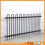 Bucle de la parte superior de acero tubular de acero galvanizado o valla valla de jardín