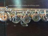 16 Open Holes Engraving Pattern Silver Flute (FL-280S)