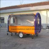 クレープのトロリーカートはアイスクリームのカートを手で押す
