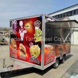 Еда тележки трейлера доставки с обслуживанием еды миниая с торговым автоматом пирожня