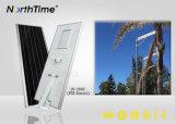 Luzes de rua solares completas inteligentes do tempo de iluminação do controle do APP do telefone