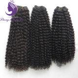 ねじれたカーリーヘアーのよこ糸を編む100%の人間の毛髪