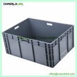 Roulement de l'UE 20L de stockage de caisses empilables Boîte fourre-tout en plastique durable