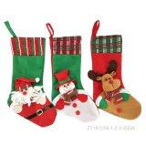 Papai Noel, boneco de neve que decora a peúga do presente do Natal