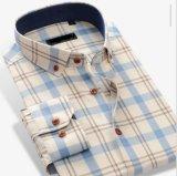 Camice tessute plaid di 100%Cotton Yarndye degli uomini
