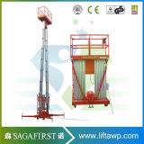 lift van de Lijst van de Lading van het Platform van de Lift van het Aluminium van de Mast van 6m tot van 14m de Lucht Dubbele