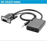 HDMI 여성 케이블 접합기 변환기에 HDTV 프로젝트 VGA 남성에게 PC 휴대용 퍼스널 컴퓨터를 위한 디지털 영상 오디오 변환기에 아날로그 1080P
