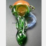 L'oreille Pipe en verre de forme alvéolaire de tuyau du filtre à huile