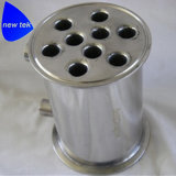 Gesundheitliche Tri Schelle-Mantelrohr-Spule mit Hülsen-Ablassöffnung