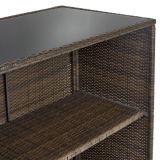 [3بك] [ويكر] قضيب فناء محدّد خارجيّ فناء خلفيّ طاولة & 2 كرسيّ مختبر [رتّن] حديقة أثاث لازم