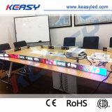 Digitaces que hacen publicidad de la visualización video del transmisor LED del estante