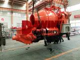Pompe concrète de remorque hydraulique approuvée de la CE avec le mélangeur