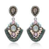 Роскошный Индии стиле Crystal Леди украшения Earring драгоценных камней
