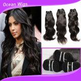 """10-40 """" Weave brasileiro barato humano reto do cabelo de Remy da qualidade superior"""