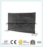 Mobilier amovible portatif clôturant le panneau provisoire utilisé de frontière de sécurité de maillon de chaîne de frontière de sécurité