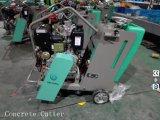 가솔린 구체적인 아스팔트 지면은 Honda 엔진을%s 가진 절단기 Gyc-220를 보았다
