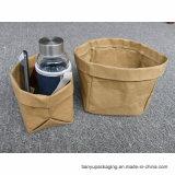 Regalo lavable del crisol del jardín de flor del bolso de la bolsa de papel de Kraft de la Navidad