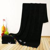 極度の柔らかく速い乾燥した黒いカラー体操タオルはタオルを遊ばす