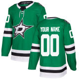 Barato 2018 Nova Marca Ad Homens Mulheres jovens Dallas Stars 91 Tyler Seguin 14 Jamie Benn 24 Roope Hintz Antoine Roussel qualquer Nome Personalizado Verde & N. Hockey camisolas