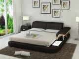 Amerikanisches echtes Leder-Bett der Art-Lb8806 mit dem LED-Licht und Arm