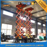 Plate-forme de travail Elevated de ciseaux mobiles pour deux hommes hydrauliques à vendre