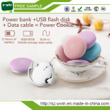 Plätzchen-Energien-Bank der USB-16GB grellen Platte-1020mAh