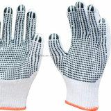 Черная пунктирная хлопка вязаные рукавицы