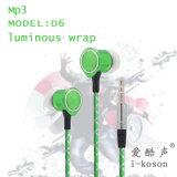 Die leuchtende Nacht kühlen Farben-Kopfhörer des Entwurfs-5 helle der Farben-LED für MP3 ab