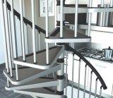 熱いすくいのGlavanizedの螺旋階段/建物螺線形の木製のStaircasecase