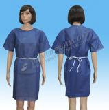 Robe longue non-tissée de patient médical, robe longue jetable d'hôpital