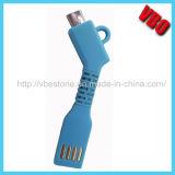 Cabo cobrando dos dados Bendable do USB para o iPhone 5