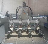 Máquina rebajadora CNC para madera, con múltiples cabezas para hacer las piernas y Roatry