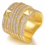 De populaire Gouden Ring van de Ring van de Juwelen van de Manier van de Vrouwen van de Ring van de Diamant