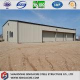 Entrepôt préfabriqué d'industrie d'acier de construction de lumière de grande envergure