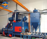 Máquina de la limpieza del chorreo con granalla de la industria con el transportador de rodillo directo