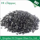 Lanscapingのガラス砂によって押しつぶされる黒いガラスは装飾的なガラスを欠く