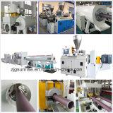 Linha de produção eficiente elevada da tubulação de fonte da água do PVC do plástico para a venda