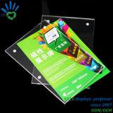 10mm bloc solide de la publicité signer titulaire un5 Affichage de gros châssis acrylique magnétique