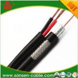 Rg59/RG6 Rg59/RG6 Siamese com cabo coaxial de cabo distribuidor de corrente Rg59/RG6 para o cabo da segurança da câmera Link/CCTV