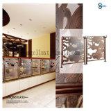 Dubai Hairline Both Sides Ecran de diviseur de salle en bronze en acier inoxydable