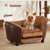 小型の贅沢な犬のベッドの革材料