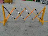 Barrière de circulation rétractable en plastique