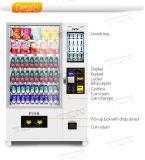 Bebida fría máquina expendedora de aperitivos y bebidas la función de lector de tarjetas de apoyo