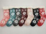 Fabricado na China por grosso meias de Inverno de malha de Floco de Neve Sherpa meias da sapata com sola de Deslizamento