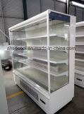 réfrigérateur ouvert d'écran de couleur de blanc de 6FT pour le supermarché avec la DEL pour chaque étagère