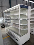 6FT 백색 색깔 각 선반을%s LED를 가진 슈퍼마켓을%s 열려있는 전시 냉장고