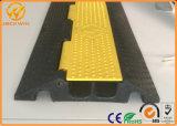 Протектор кабеля пола горячего канала крышки 2 желтого цвета сбывания резиновый