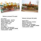 24 parcs d'attractions de carrousel de portées joyeux vont rond pour des gosses