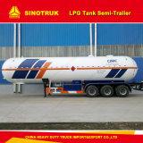 판매를 위한 50m3 Sinotruk HOWO LPG 24tons 탱크 세미트레일러